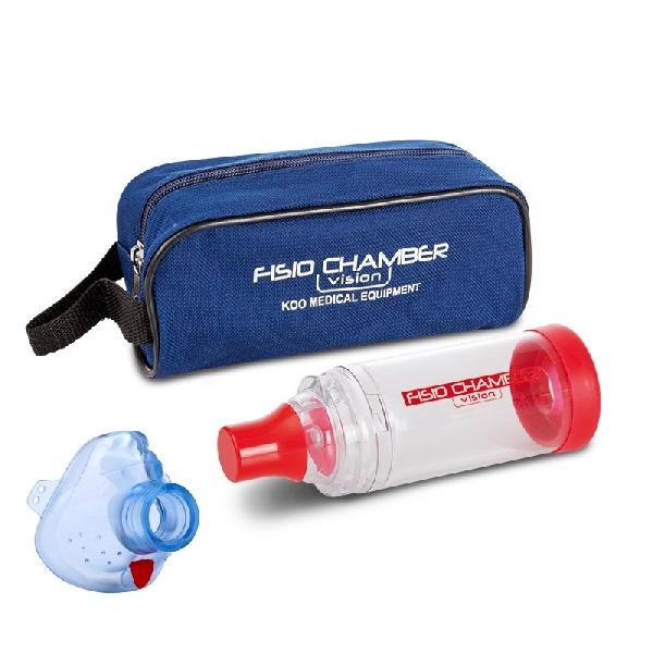 Fisio Chamber gyermek maszkkal (3-6 év), kék táskával - KM-1321B
